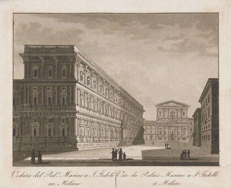 Taliansky maliar z prelomu 18. - 19. storočia - Palác Marino u sv. Fidelia v Miláne