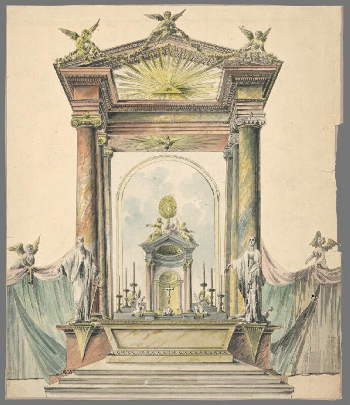 Stredoeurópsky maliar z 1. štvrtiny 19. storočia - Návrh na oltárnu architektúru