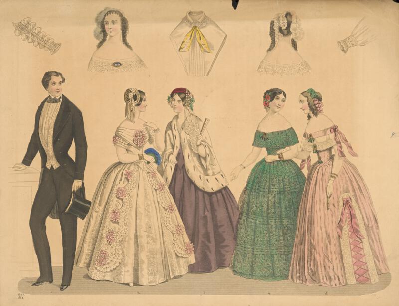 Neznámy autor - Módny list z roku 1847