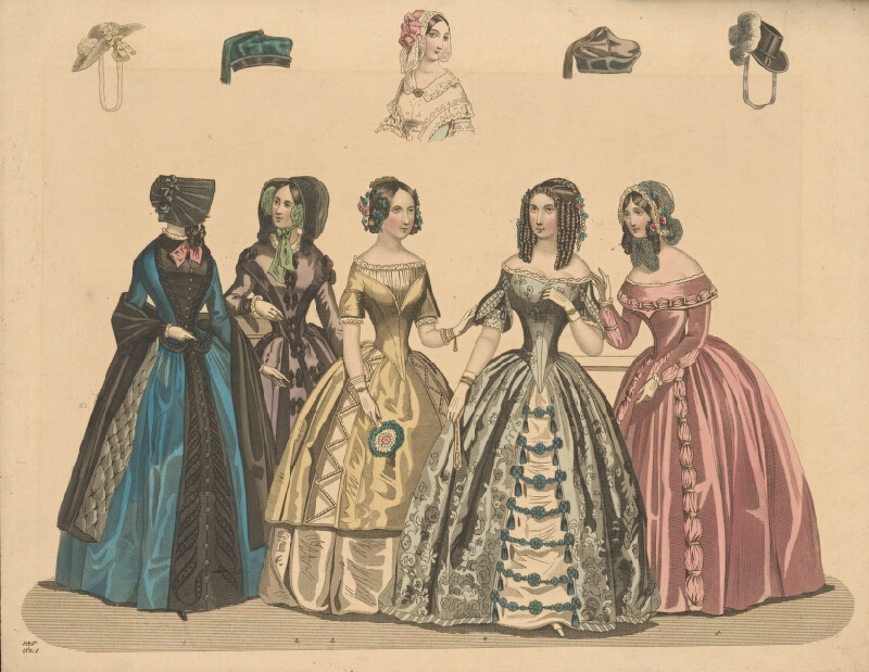 Neznámy autor - Módny list z roku 1846