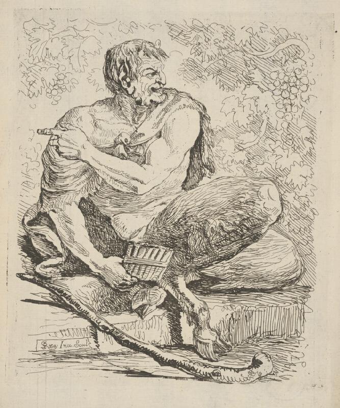 Salvator Rosa - Sediaci Satyr