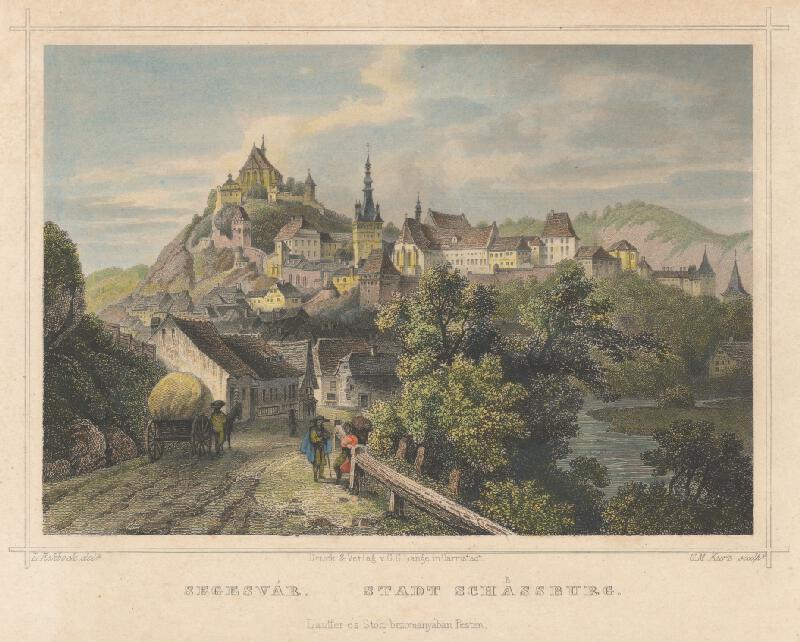 Georg Michael Kurz, Ludwig Rohbock - Pohľad na mesto Schassburg