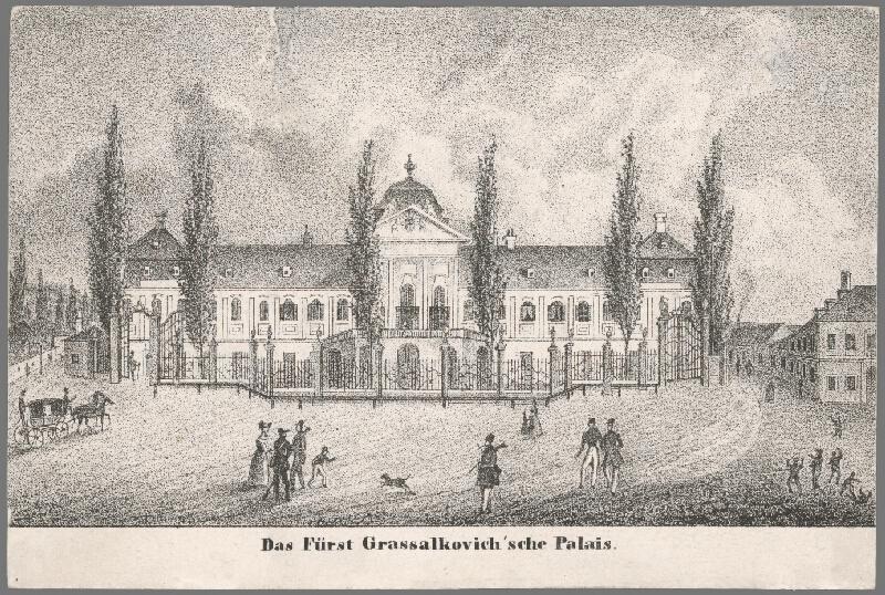 Antal József Strohmayer, Johann Höfelich, C.F. Wigand - Palác kniežaťa Grassalkoviča v Bratislave