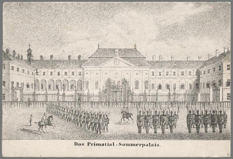 Antal József Strohmayer, Johann  Höfelich, C.F.  Wigand - Primaciálny letný palác v Bratislave