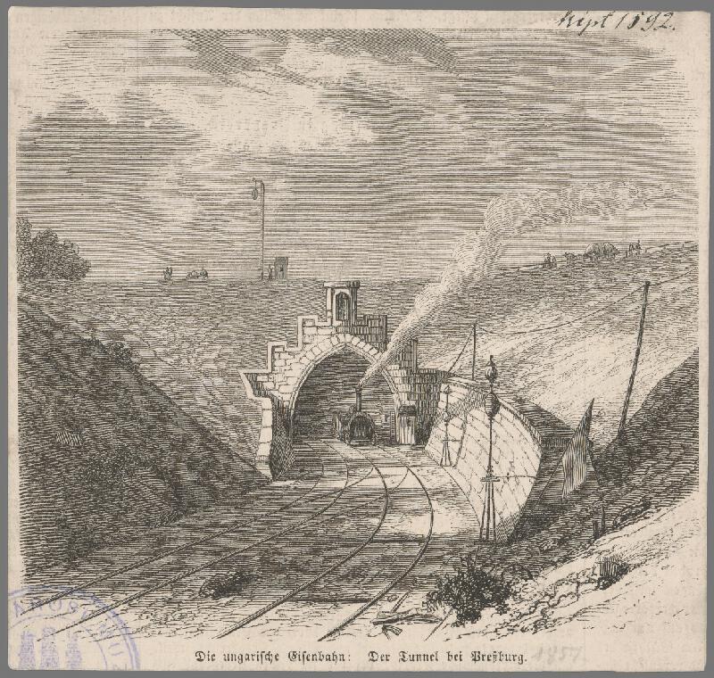 Stredoeurópsky grafik z 19. storočia - Tunel pri Bratislave