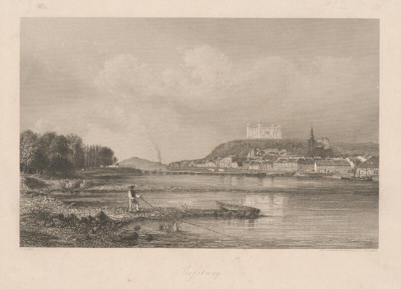 Wiliam Lang, Rudolf Alt - Bratislava z juhu