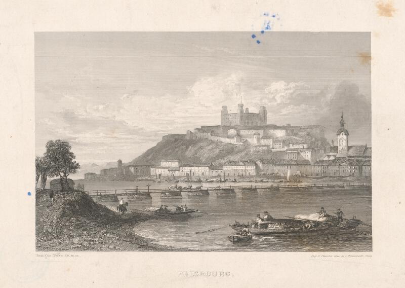 Adolphe Rouargue - Bratislava z juhu
