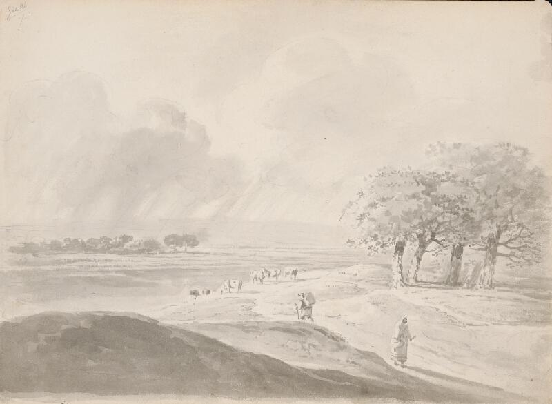 Franz Brudermann - Krajina v daždi