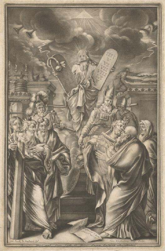 Johann Jacob von Sandrart, Elias Christoph Heiss - Mojžiš ukazuje prikázania Izraelu