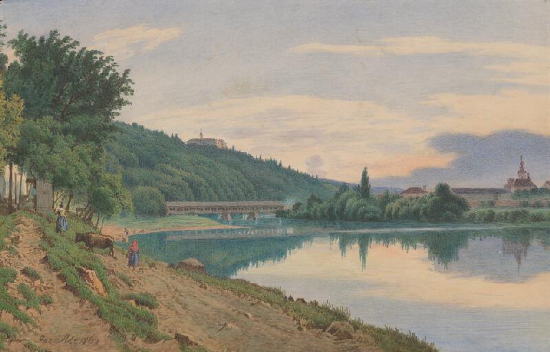 Jakob Alt - Krajina s jazerom