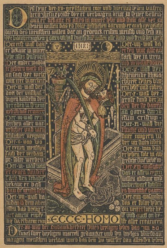 Stredoeurópsky grafik z 1. polovice 20. storočia - Ecce homo