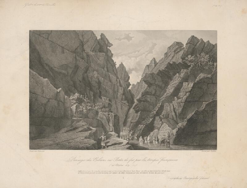 William Skelton, Adrien Dauzats - Prechod francúzskeho vojska cez Bibans