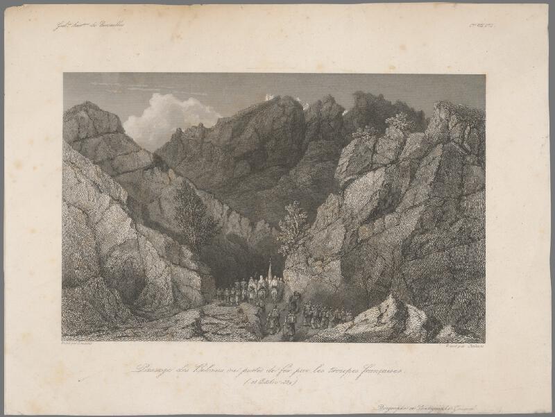 William Skelton, Adrien Dauzats - Prechod francúzskeho vojska cez Bibans II.