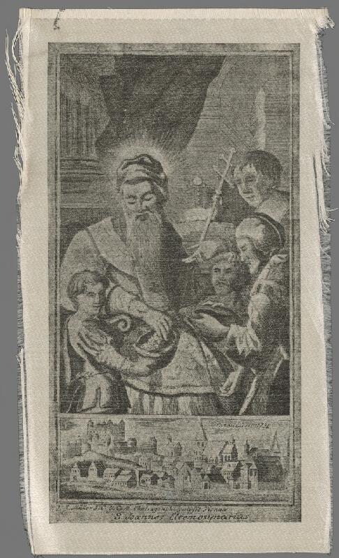 Müller - Sv. Ján Almužník a pohľad na Bratislavu z juhu v 18. storočí