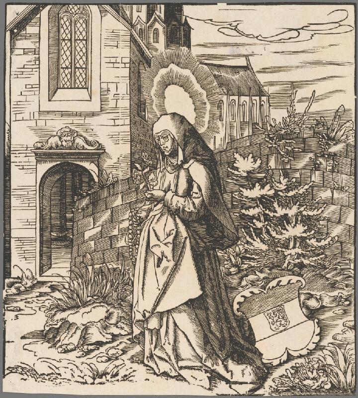 Stredoeurópsky grafik zo 16. storočia - Svätá