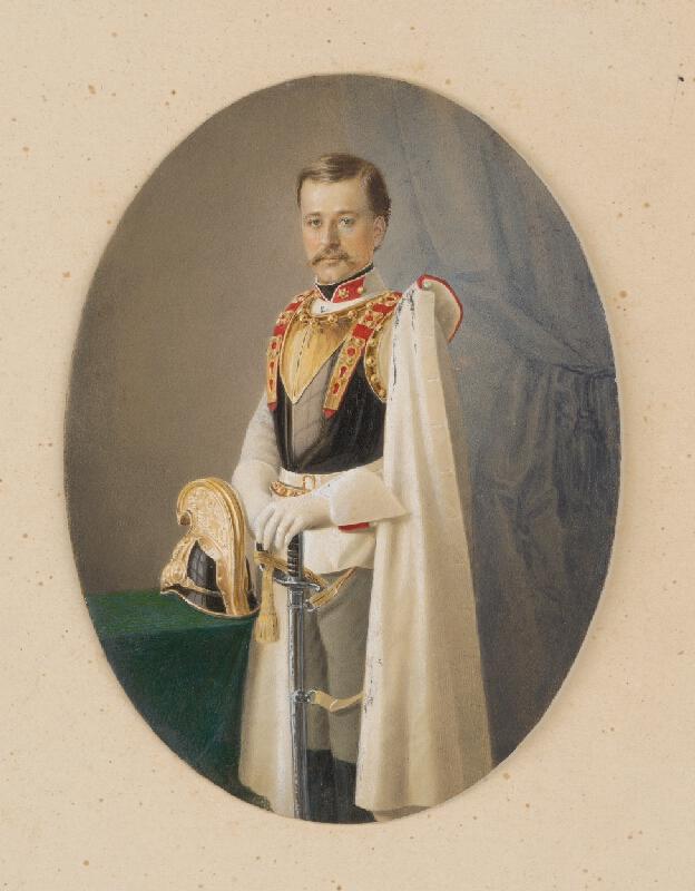 Rakúsky maliar z 2. polovice 19. storočia - Portrét rakúskeho kyrysníka