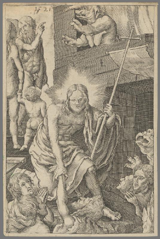 Lucas van Leyden - Kristus v predpeklí