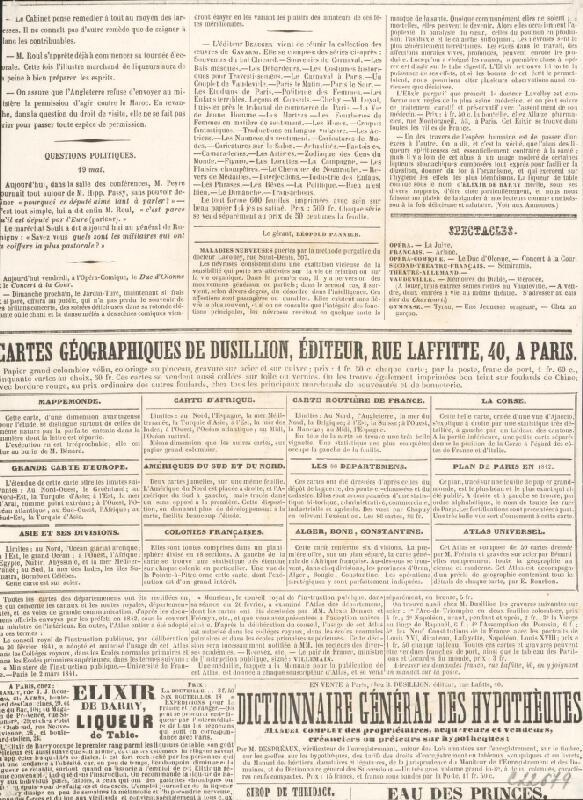 Francúzsky grafik z polovice 19. storočia – Karikatúra novinára