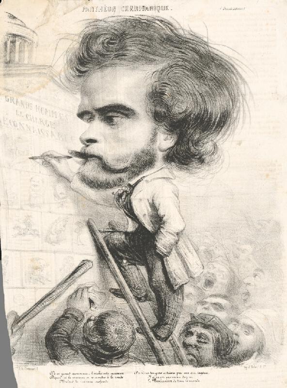Francúzsky grafik z polovice 19. storočia – Karikatúra návrhára