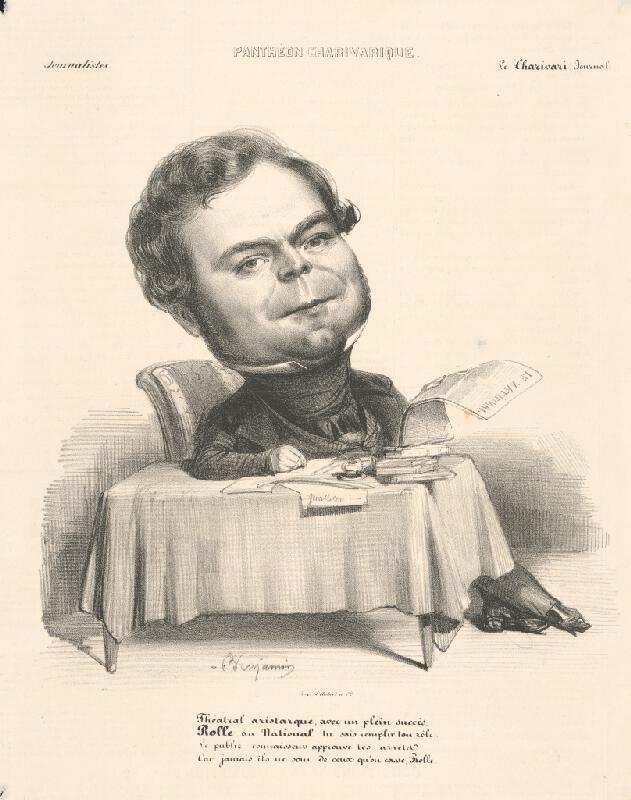 Francúzsky grafik z polovice 19. storočia – Karikatúra novinára II.