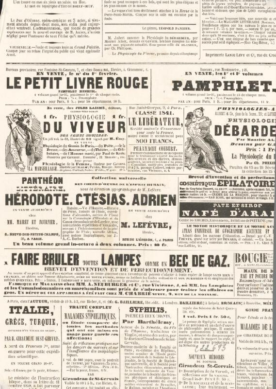 Francúzsky grafik z polovice 19. storočia – Herec