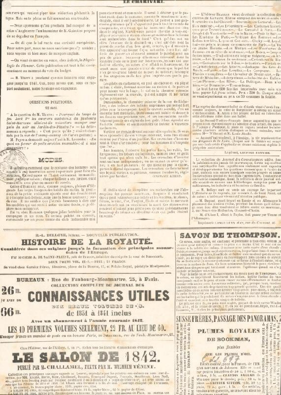 Francúzsky grafik z polovice 19. storočia – Karikatúra herca