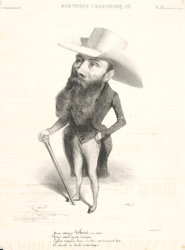 Francúzsky grafik z polovice 19. storočia – Novinár