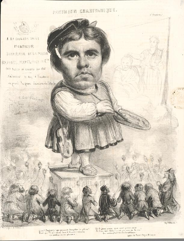 Francúzsky grafik z polovice 19. storočia – Maliar