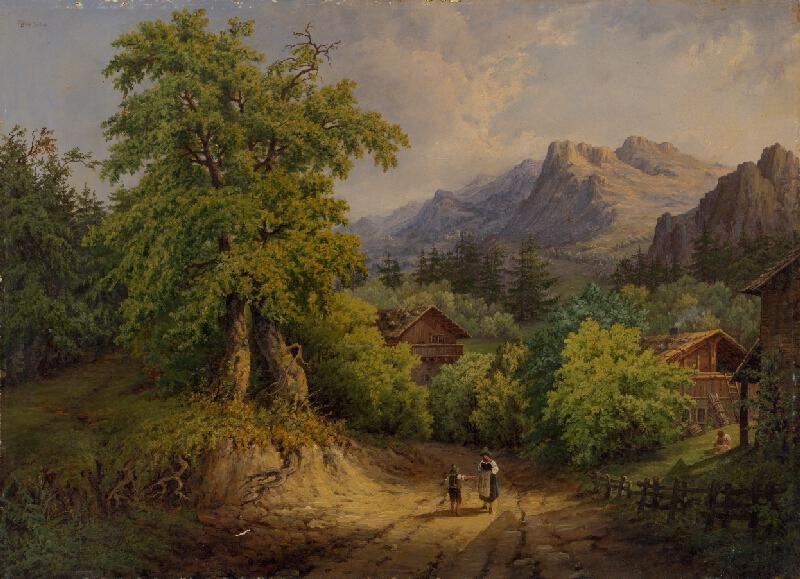 Jan Malý - Romantická alpská krajina