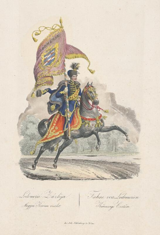 Stredoeurópsky grafik z 19. storočia - Korunovačný kostým z Lodonerie