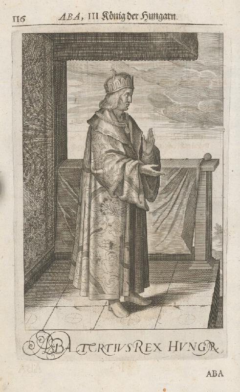 Stredoeurópsky grafik zo 17. storočia - Uhorský kráľ Samuel Aba