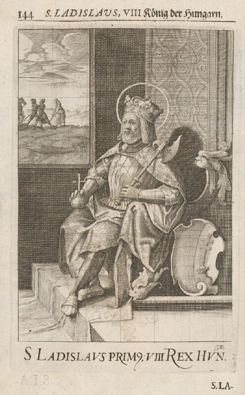 Stredoeurópsky grafik zo 17. storočia - Portrét Ladislava I. Svätého