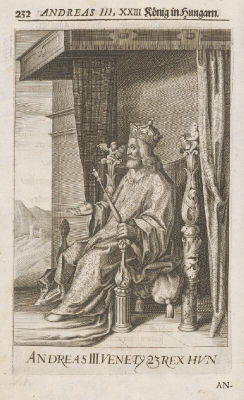Stredoeurópsky grafik zo 17. storočia - Andreas III. XXIII König in Hungarn