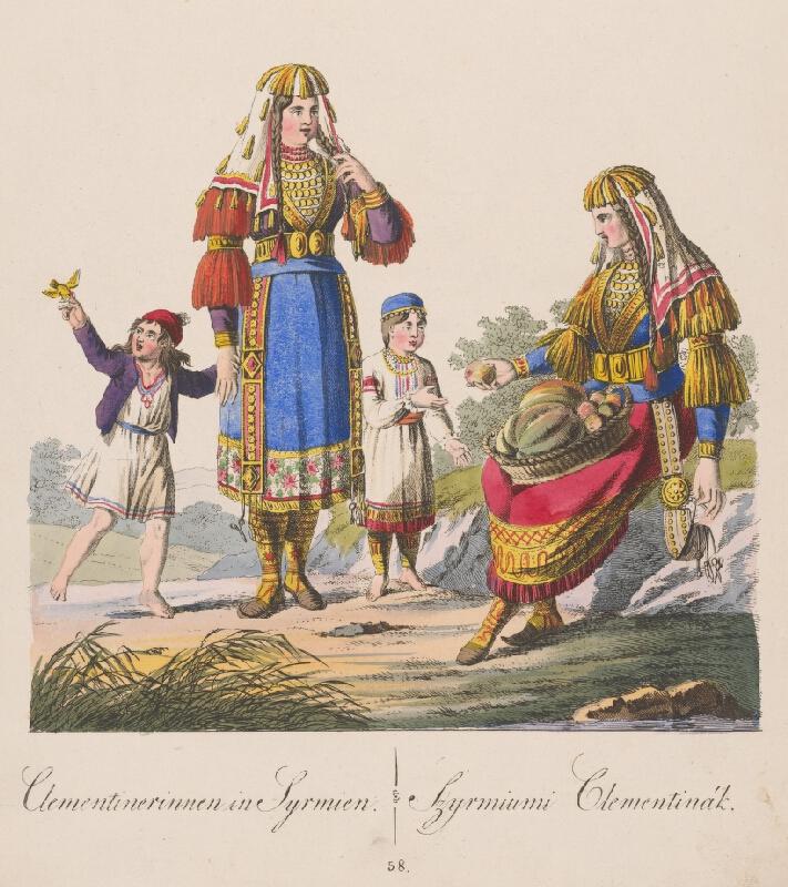 Stredoeurópsky grafik z 19. storočia - Klementínky zo Syrmiumi