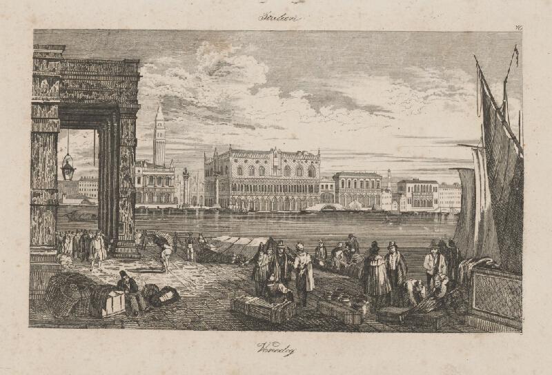Taliansky autor z 2. polovice 19. storočia - Pohľad na Benátky