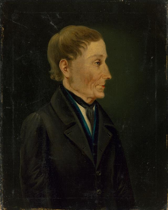 Slovenský maliar okolo polovice 19. storočia - Portrét muža v čiernom kabáte