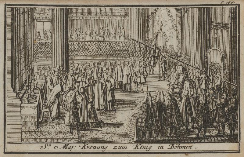 Nemecký grafik z 1. polovice 18. storočia - Korunovačný výjav VI.