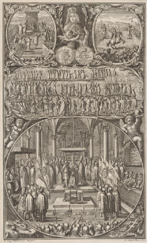 Johann Ulrich Krauss, Johann Josef Waldmann - Korunovácia Jozefa I. v Bratislave