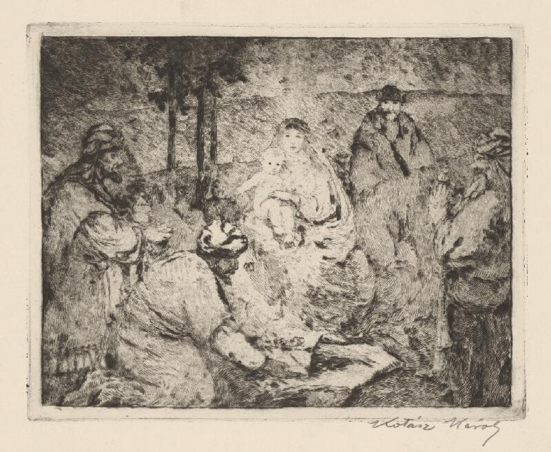 Károly Kotász - Klaňanie troch kráľov