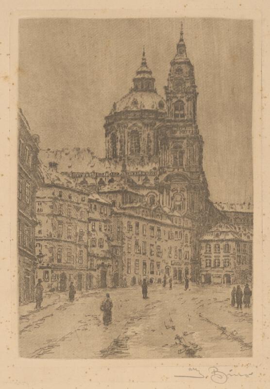 Josef Bino - Kostol sv.Mikuláša v Prahe
