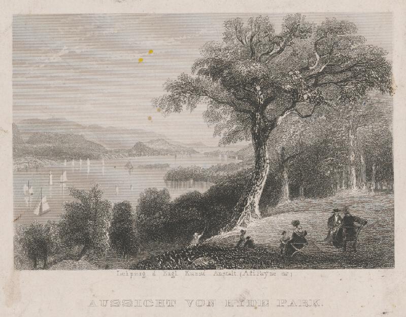 Albert Henry Payne - Pohľad na Hyde Park