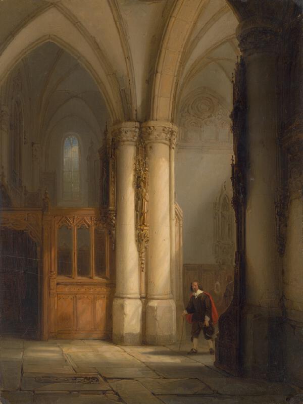 Anglický autor z 19. storočia - Interiér chrámu