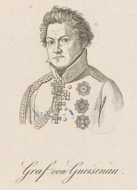 Stredoeurópky grafik z prelomu 18. - 19. storočia - Portrét grófa von Gnesisenaua