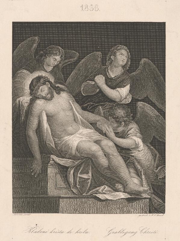 Johann Leonhard Raab, Giuseppe Salviati - Kladenie Krista do hrobu