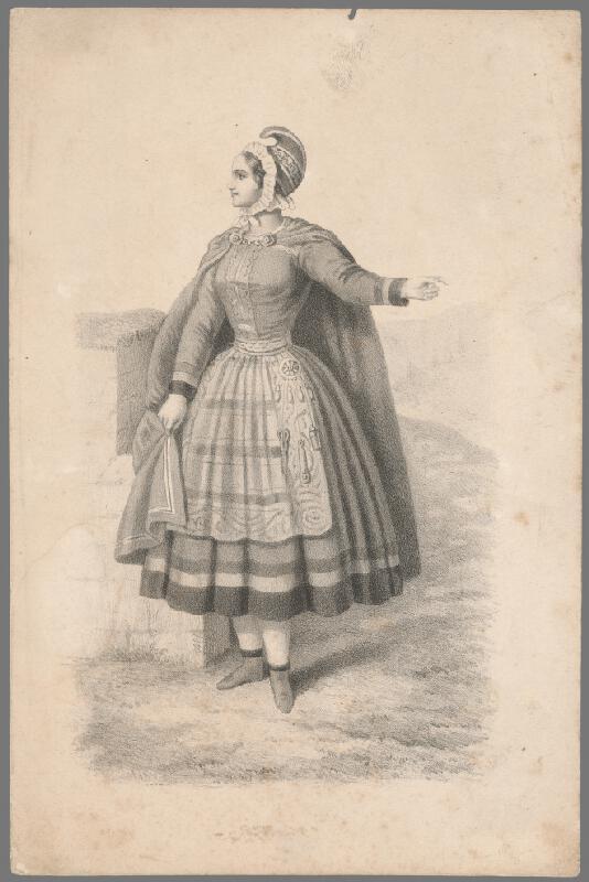 Stredoeurópsky grafik z 19. storočia - Portrét ženy