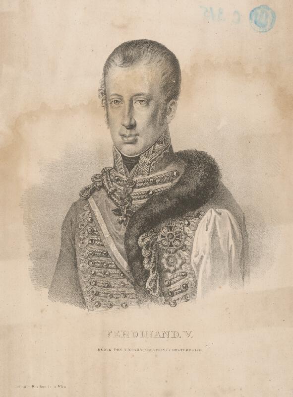 Adolf Friedrich Kunike - Portrét Ferdinanda V.