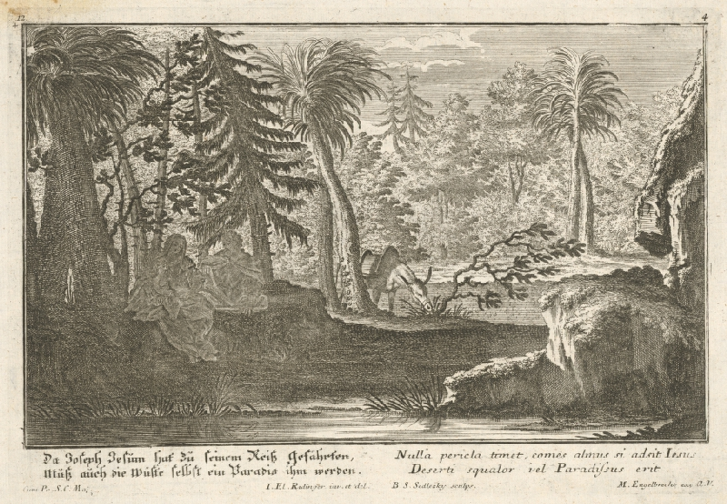 Balthasar Sigmund Setletzky, Johann Elias Ridinger, Martin Engelbrecht - Útek do Egypta