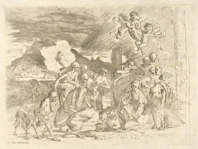 Pietro Testa - Klaňanie pastierov