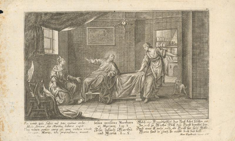 Martin Engelbrecht - Kristus u Marty a Márie