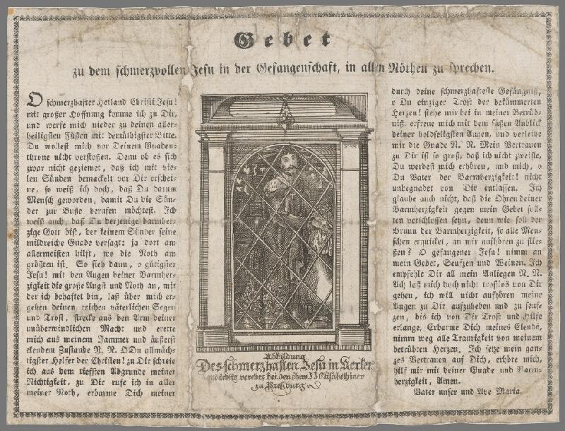 Nemecký grafik z 19. storočia - Motlitba k bolestiplnému